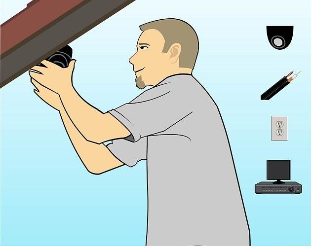 Ajuste de posição das cemras de segurança do sistema de cftv